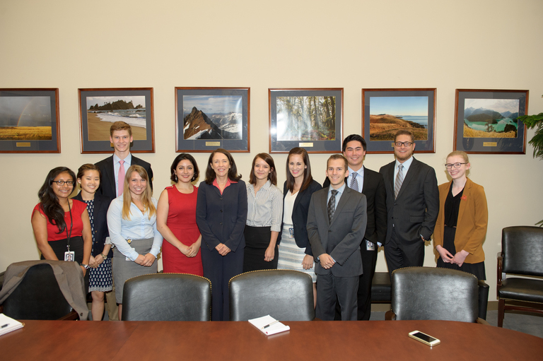 Interns with Senator Cantwell